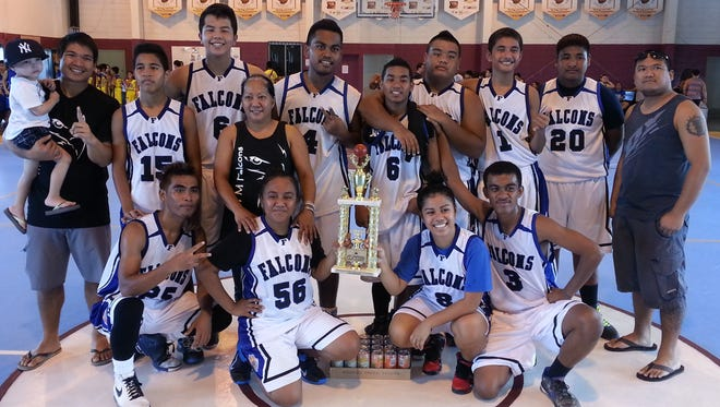 The MTM Falcons took the title, beating Rollers Basketball from Saipan 31-25 in the Turkey Recreation 21 and under division of the 2013 Thanksgiving HoopFest Tournament.