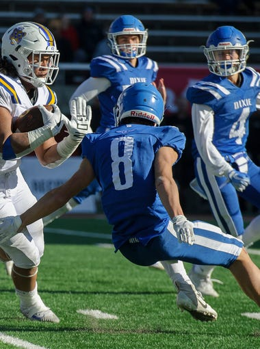 Dixie High School takes on Orem for the Class 4A state championships at Rice-Eccles Stadium in Salt Lake City Friday, November 16, 2018.