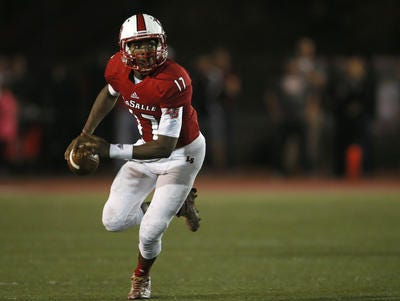 La Salle senior QB Nick Watson leads the Lancers' offense into its second straight state final Friday night in Columbus.