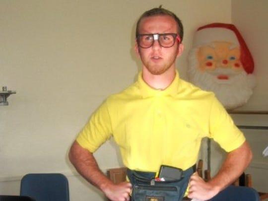 "Ben Goldschmidt is an Enquirer producer. This photo was taken during ""nerd day"" of spirit week in 2008."