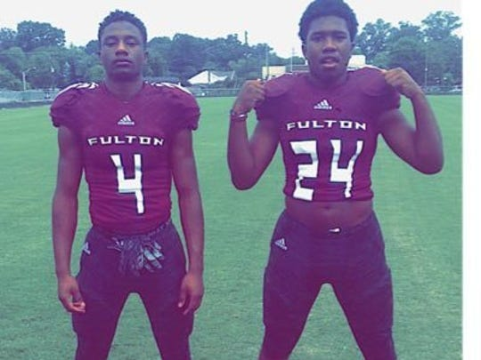 Zack Dobson (left) with his brother Zaevion at Fulton.