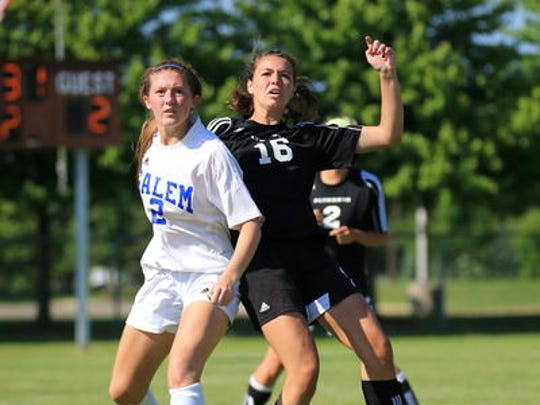 Among key returnees for Plymouth is Megan McCurry (right), shown from a 2014 game.