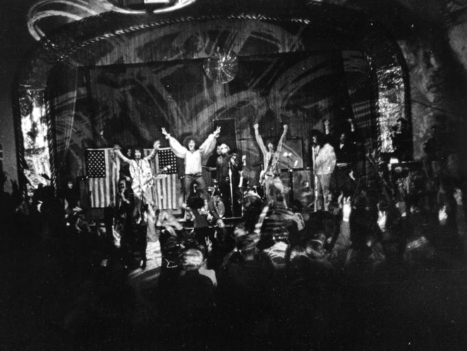 MC5 performs at the Grande Ballroom in Detroit in 1968,