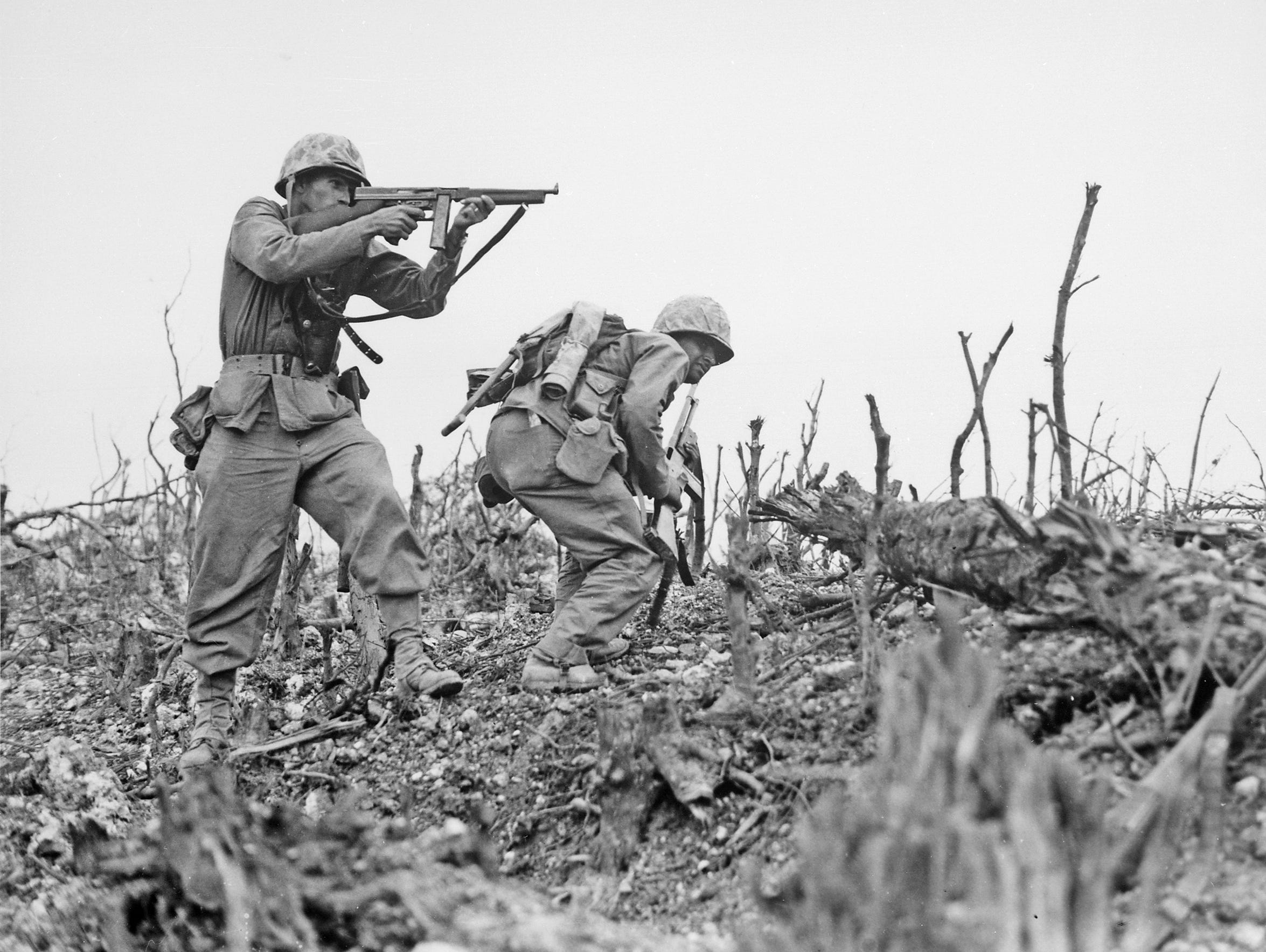 A U.S. Marine from the 2nd Battalion, 1st Marines on