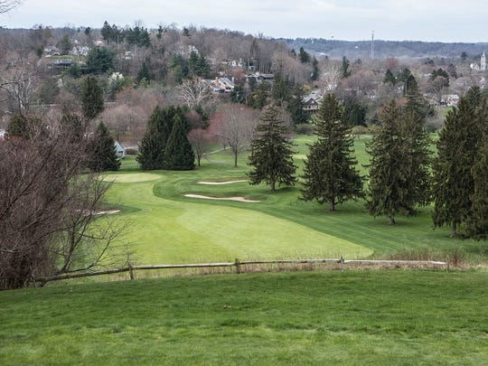 The view from the 18th hole at the Denison Golf Club is one of the highest points in the county and looks out over Granville.