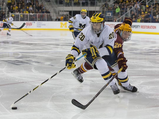 Cooper Marody, a Hobey Baker Award nominee for the University of Michigan, got his start in hockey playing at the Kensington Valley Ice House in Brighton.
