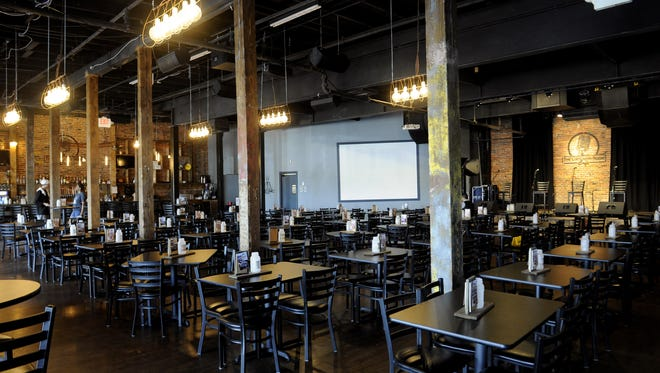 The large dining area at The Listening Room Cafe