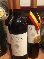 Alba Vineyards has a variety of wines suitable for holiday meals, including Estate Chardonnay (not pictured).