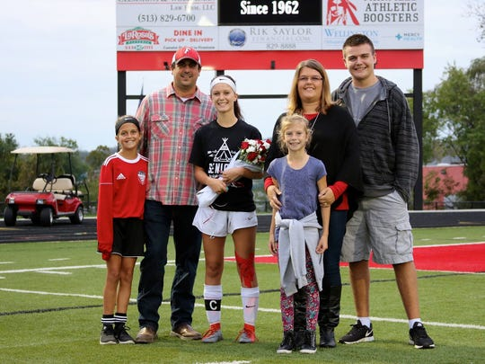 The Stroud family - Olivia, Craig, Taylor, Mackenzie, Tara and Alex - celebrated Taylor's Senior Night with Fairfield High School girls soccer.