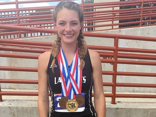 Water Valley junior Kenzie Jordan won first in the 1A girls 200 meters and her relay teams were third in two races Saturday at the UIL State Track and Field Championships in Austin.