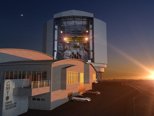 An illustration of what the Giant Magellan telescope