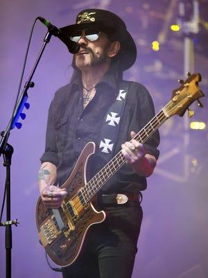 "Ian ""Lemmy"" Kilmister, performs on June 26 at the Glastonbury Festival."