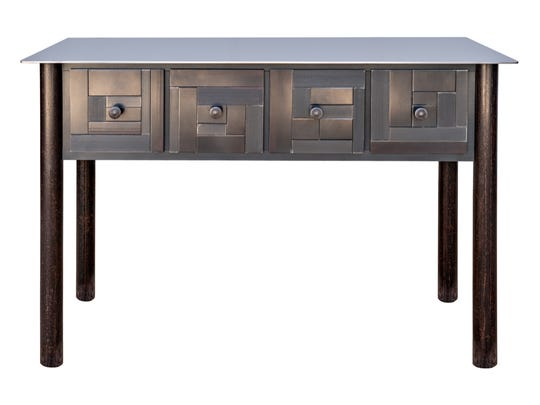 """""""Four-Drawer Counter,"""" hot roll and found painted steel"""