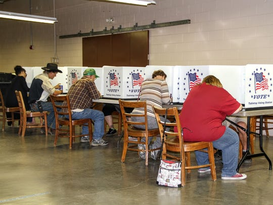 Otero County voters cast their ballots at the Otero County Fairgrounds, 401 Fairgrounds Road, Friday afternoon.
