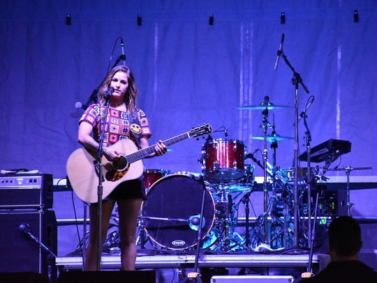 Musician Cassadee Pope sang live in concert at Holloman