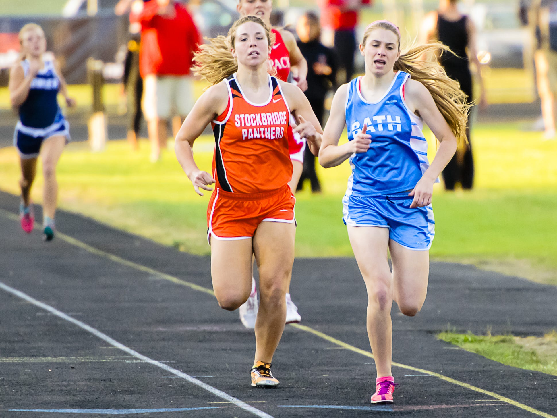 Annie Fanta (right) of Bath looks to capture her first career Division 3 state title in her senior year.