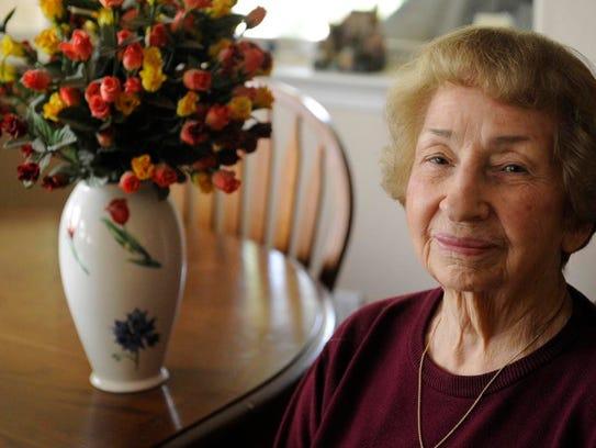 Violet Smith, 81, of Visalia met her late husband,
