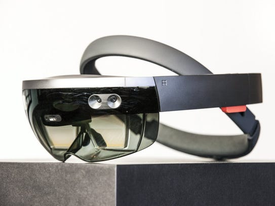Microsoft HoloLens, an augmented reality device ($3,000)