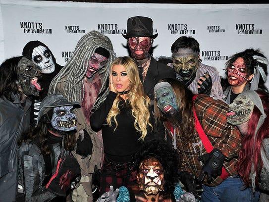 Carmen Electra visits Knott's Scary Farm on October
