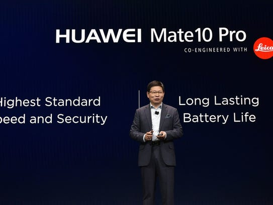 Huawei CEO Richard Yu speaks about the Mate 10 Pro