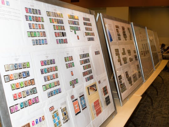 Postage stamps are on display at the 26th Annual Mesilla