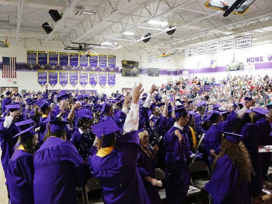 Now former Unioto High School students celebrate their