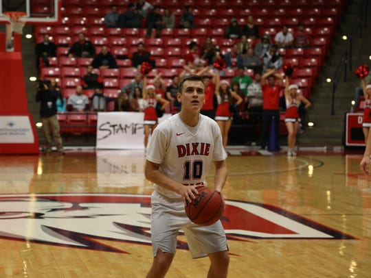 Dixie State senior point guard Brandon Simister has been a major catalyst for the team's historic run this season.
