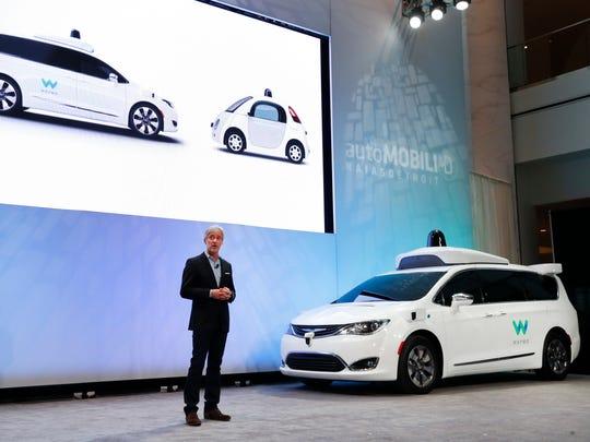 John Krafcik, CEO of Waymo Inc., the autonomous vehicle