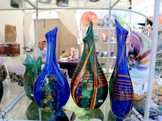 Glass artist David Tate was among the creative people