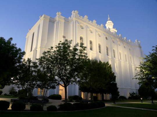 The St. George Utah Temple was built by early Southern Utah settlers from The Church of Jesus Christ of Latter-day Saints.