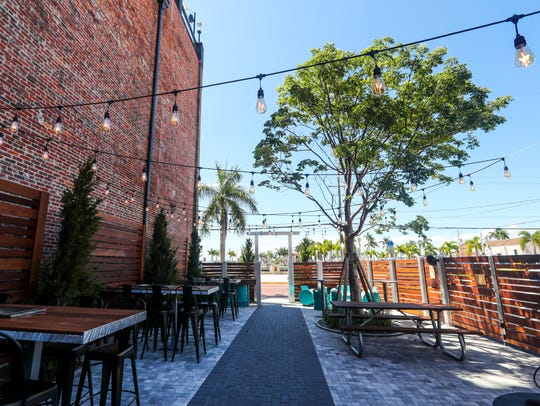 The new outdoor garden area at Downtown Social House.
