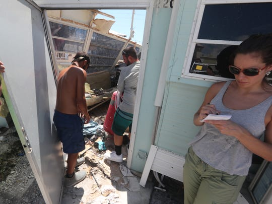 FLORIDA TODAY Public Affairs and Engagement Editor Isadora Rangel interviews residents at Outdoor Resorts at Long Key in the aftermath of Hurricane Irma on Sept. 15, 2017.