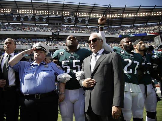 Philadelphia Eagles players, owner Jeffrey Lurie, Eagles'