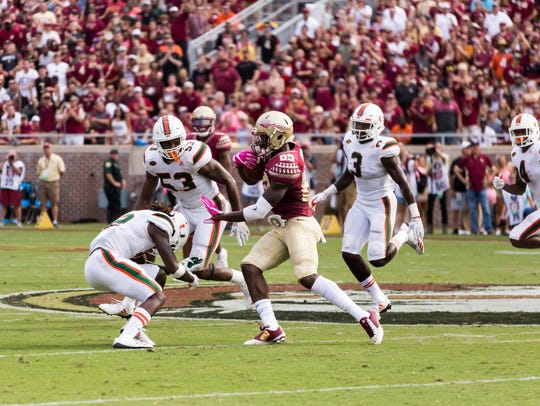 Florida State sophomore wideout Keith Gavin is still