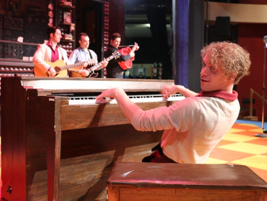 "Nat Zegree as Jerry Lee Lewis in ""Million Dollar Quartet"""