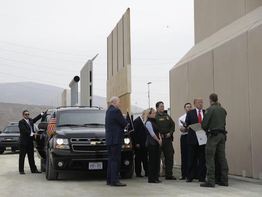 Trump at border wall in San Diego