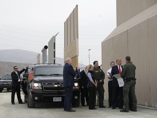 Trump at border wall in San Diego