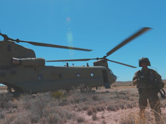 The 2nd Battalion, 501st Aviation Regiment conducted a field training exercise that included simulating a Chinook helicopter being shot down. Pilots and flight crews spent the following two days sharpening their survival and evasion skills.