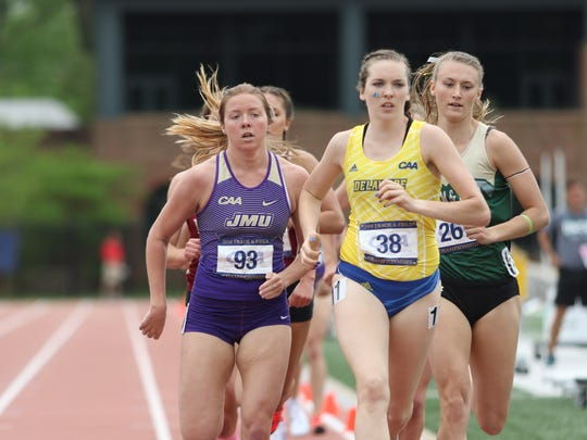 Liz McGroarty sets the pace at last month's CAA Championships.