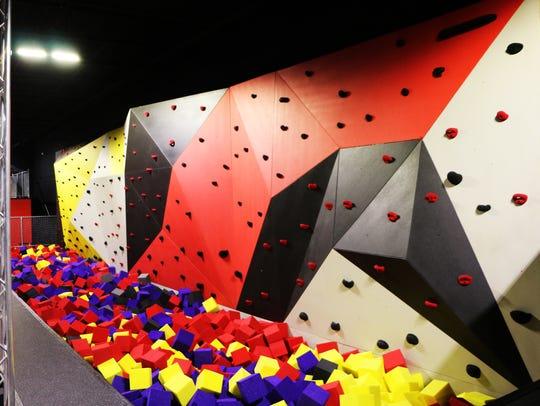 A CircusTrix rock-climbing apparatus.