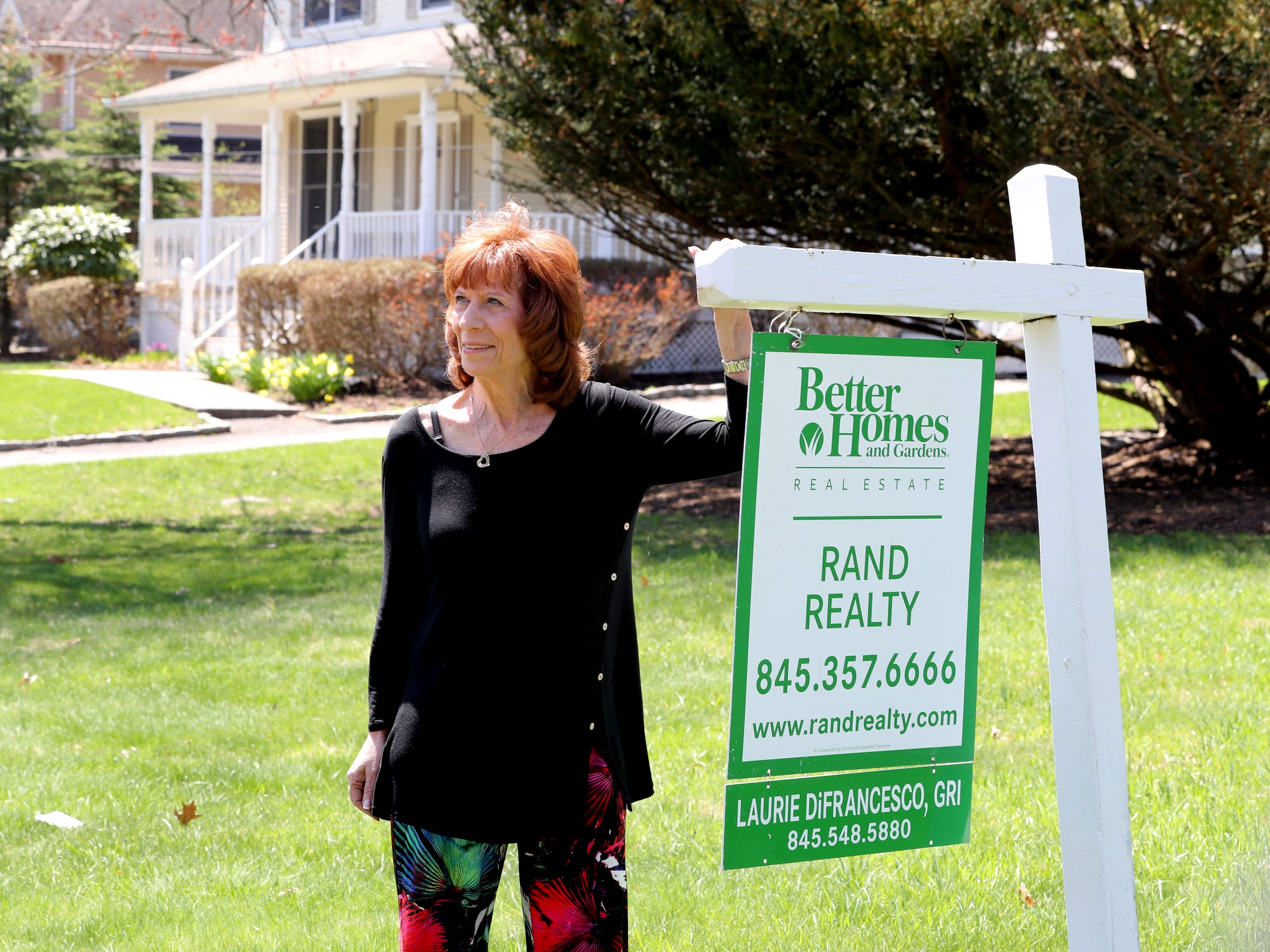 Laurie DiFrancesco is a member of the Airmont Comprehensive Plan Update Committee, a Zoning Board of Appeals member and a realtor. She was photographed May 1, 2018 at a house in Airmont that she her company is selling.