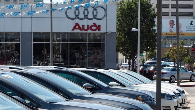 Volkswagen and Audi dealerships in Oakland, Calif.