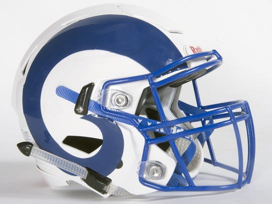 Kennard-Dale football helmet.