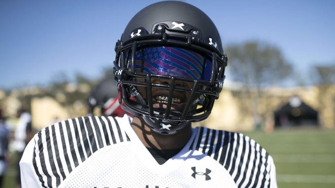 Escambia High wide receiver Jacob Copeland at Under Armour All-American practices this week in Orlando.