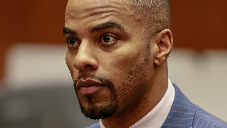 Former Green Bay Packers safety Darren Sharper appears