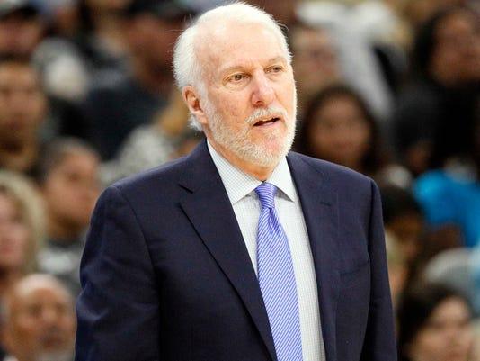 USP NBA: CHARLOTTE HORNETS AT SAN ANTONIO SPURS S BKN SAS CHA USA TX