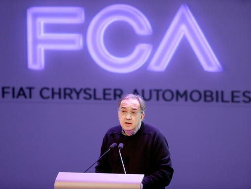 Fiat Chrysler Automobiles CEO Sergio Marchionne in