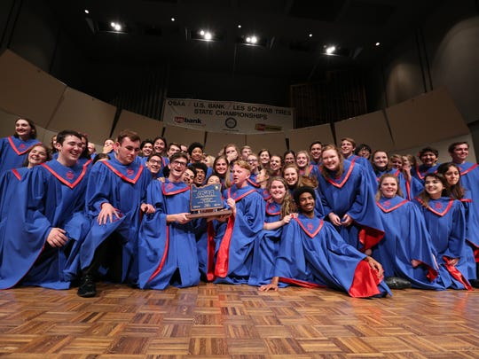 South Salem wins the OSAA 6A State Choir Championships on Saturday, May 7, 2016, at George Fox University in Newberg.
