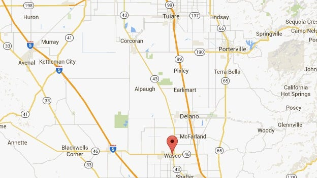 The epicenter of Tuesday's earthquake was near Wasco.
