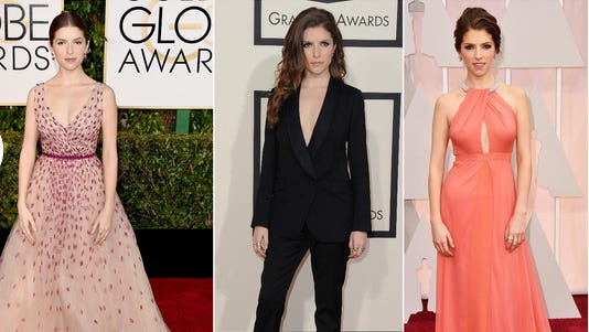 Anna Kendrick at the Golden Globes, the Grammys and the Academy Awards.
